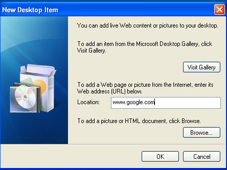 ss3 How To Put Your Favorite Webpage on Your Windows XP Desktop