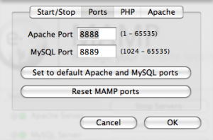 mampports How To Set Up a Local Web Server on Your Mac Using MAMP