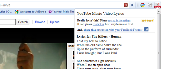 Now, open any YouTube video and click on the small YouTube icon in the