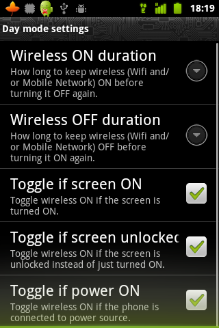 green-power-day-mode Extend Your Gingerbread Android Battery Life with Green Power
