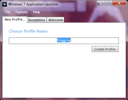 new profile Launch Multiple Applications at the Same Time with Windows 7 App Launcher