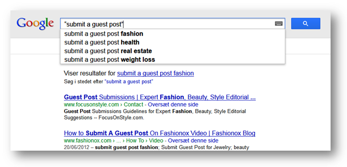 Google Search How to Look for Guest Post Opportunities