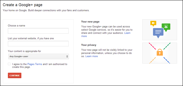 choose name and other elements Step-by-Step Guide to Launch a Google+ Business Page