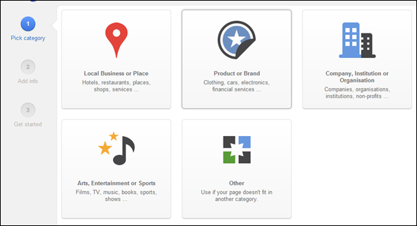 choose type Step-by-Step Guide to Launch a Google+ Business Page