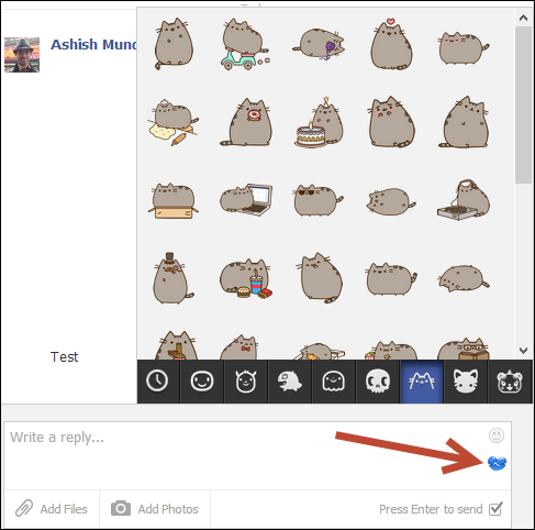 send stickers How to Send Facebook Chat Stickers From a Computer