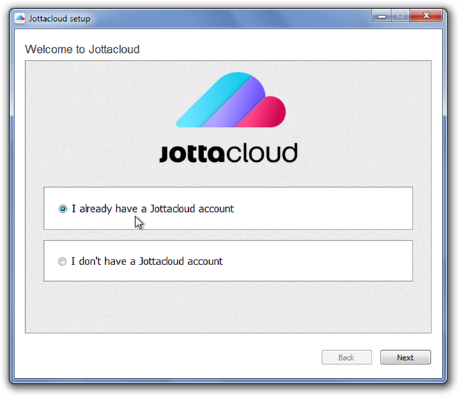 Jottacloud setup 1 Jotta Cloud Service, Free Of NSA Prism-Esque Surveillance Programs