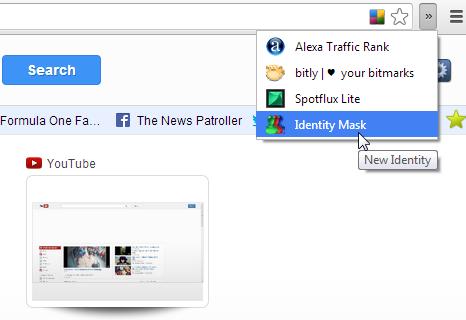 Identity Mask Chrome browser