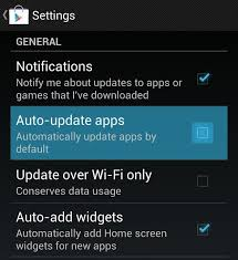 Disable android auto update